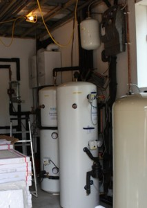 Controls and boilers for a large solar power system