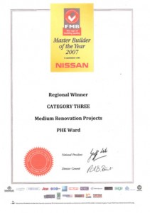Regional Winner - Master Builder of the Year 2007