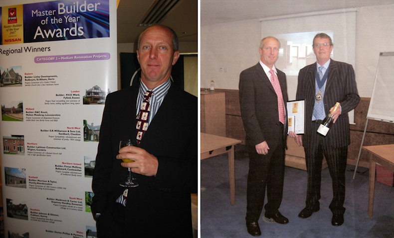 Michael Ward at the prestigious FMB Master Builder of the Year awards 2007
