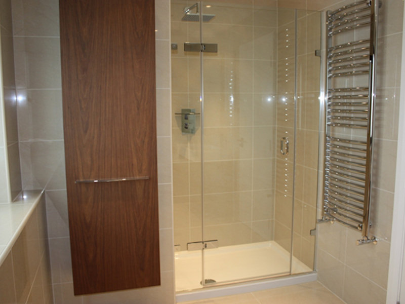 Shower and towel rail installation