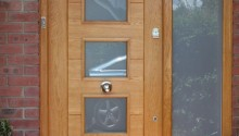 Bespoke front door, frame and glazed side panel