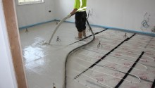 Room wired for underfloor heating