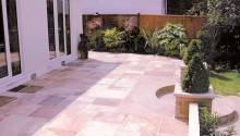 Patio, walls, planters and steps